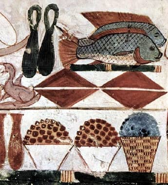 Food Mural from ancient Egypt