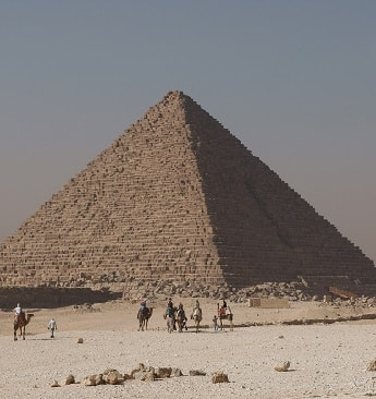 The Pyramid of Menkaure on the Giza plateau