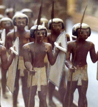 Wooden Egyptian soldiers